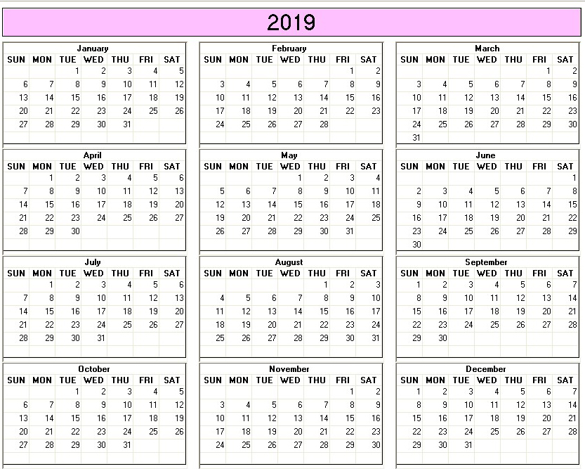 Calendrier pole emploi | Download 2019 Calendar Printable ...