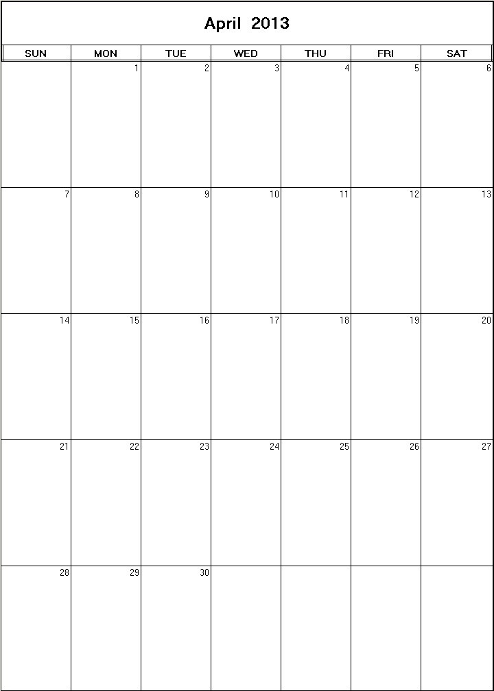 April 2013 Calendars With Holidays/page/2 | New Calendar Template Site