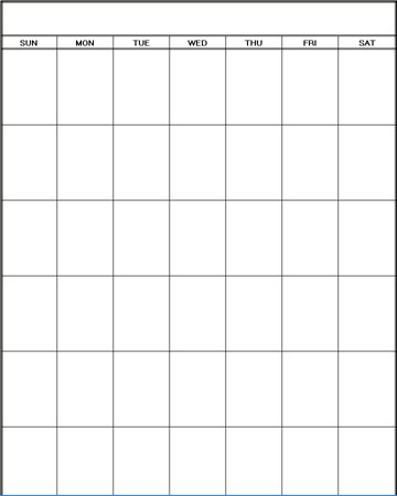 Printable Blank Calendar | Printable Blank Calendar Planners